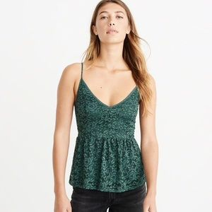 Abercrombie lace peplum cami NWOT